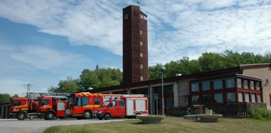 Brandstationen i Botkyrka Foto: Södertörns Brandförsvarsförbund