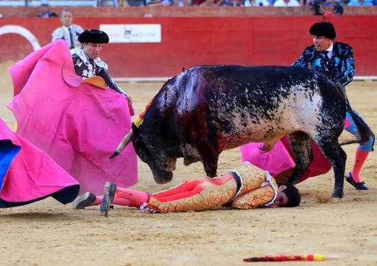 Tjurfäktaren Victor Barrio dödas av en tjur den 9 juli 2016 Foto: Everipedia