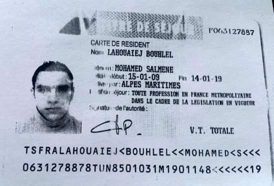 Mohamed Lahouaiej-Bouhlel Källa: Franska regeringen
