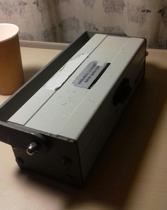 Den radioaktiva isotopen förvaras i en blylåda för att inte skada människor Foto: Elisabet Höglund