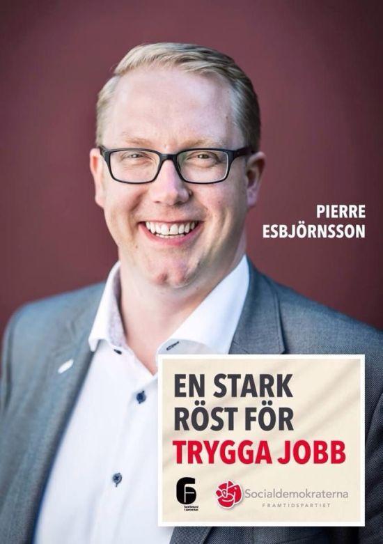 Pierre Esbjörnsson (S) kommunalråd i Skurup Foto: socialdemokraterna.se