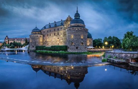 Det var här vi Örebro slott som en 50-årig man utsattes för ett mordförsök. Foto: Wikimapia