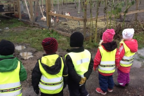 Barnen på Lerkils förskola fick evakueras till andra lokaler på grund av mordbranden. foto: kungsbacka.se