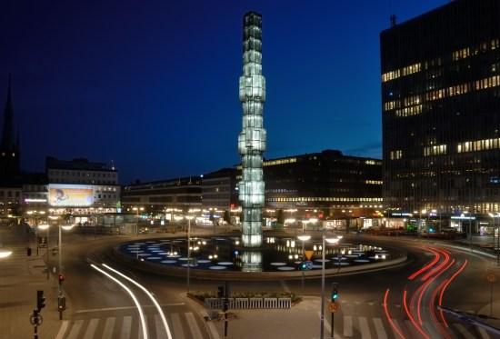 Här på Sergels torg i centrala Stockholm blev två unga män utsatta för mordförsök den 1 oktober i år. Foto: wikimedia.commons.se