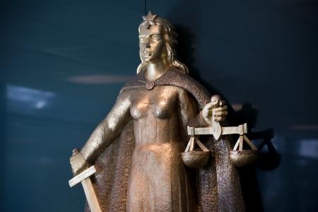 Fru Justitia, Rättvisans symbol Foto: Polisen