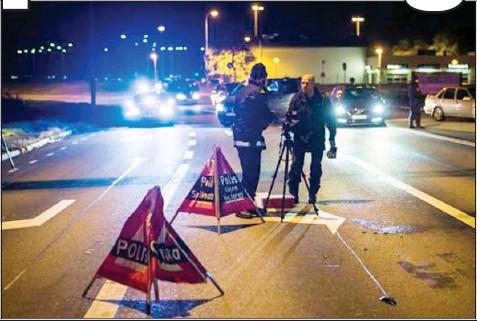 En våldsam skottlossning ägde rum i en vägkorsning i stadsdelen Tuve på Hisingen i Göteborg. Bild: pressreader.com