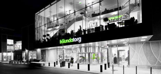 Stadsdelen Frölunda med Frölunda torg i Göteborg Foto: goteborg.com