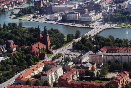 Eskilstuna från luften Foto: eskilstuna.se