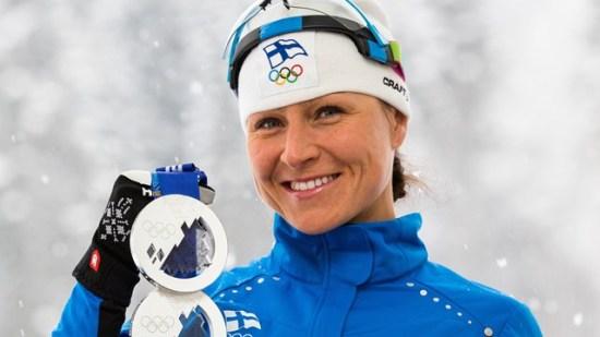Aino-Kaisa Saarinen, finländsk skidstjärna Foto: Internationella skidförbundet FIS