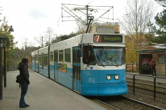 Spårvagn mot Kortedala-Bergsjön i Göteborg Foto: Postvagnen.com