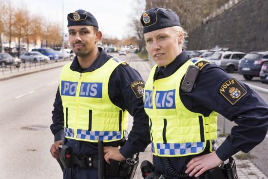 Poliser i arbete Foto: Polisen.se