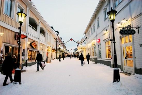 Här i centrala Piteå misshandlade en man i 60-årsåldern sin partner. Bild: Luleå Tekniska Universitet