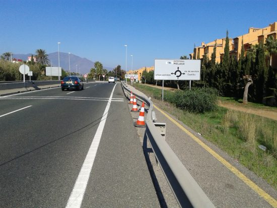 En av mina cykelvägar i Spanien, A7:an mellan Malaga och Cadiz.