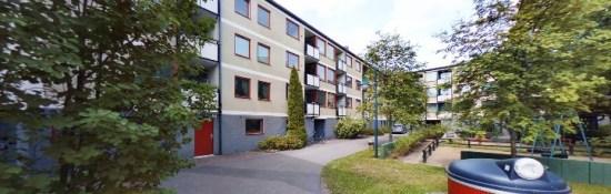 En 30-årig man överfölls och misshandlades här på Munkhagsgatan i Linköping den 22 september. Foto: hitta.se