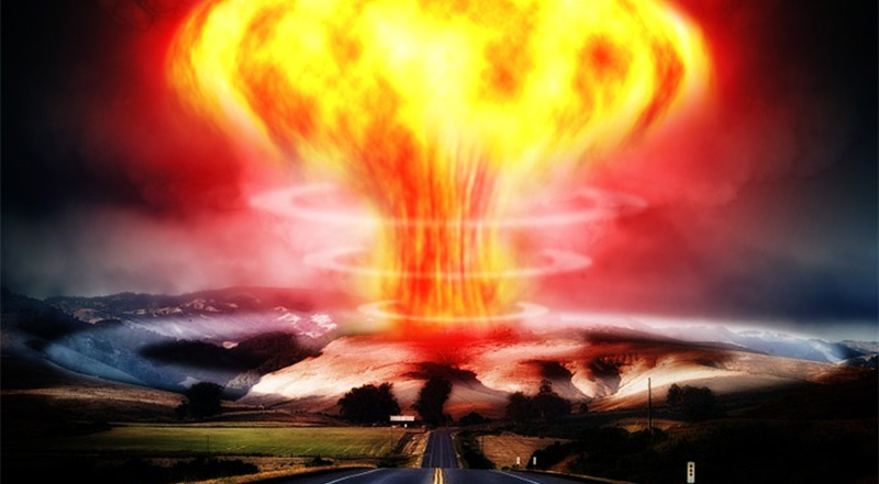 Economists: Republicans are the greatest threat to the economy. Photo of bomb exploding.