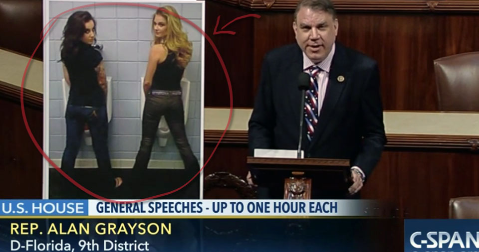 Watch Rep. Alan Grayson take to the House floor to eviscerate the Republican Party over North Carolina's transgender bathroom law.