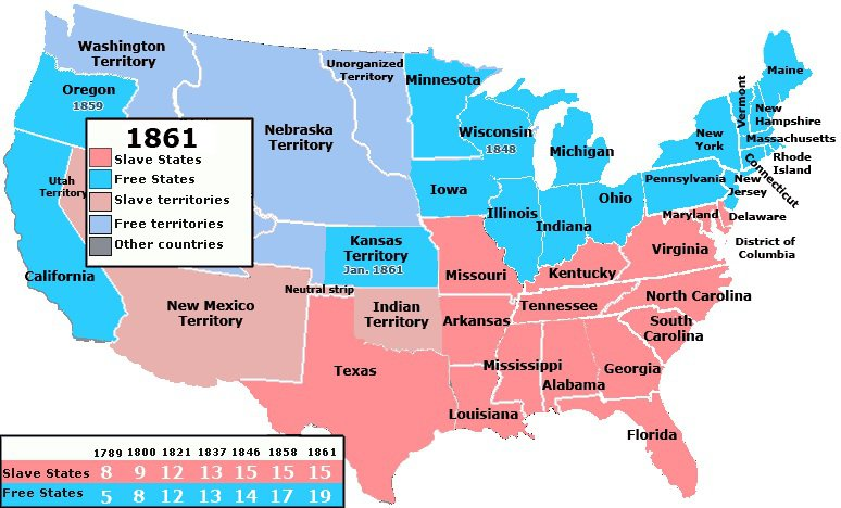 The Southernization Of America In Maps - Us map 1821