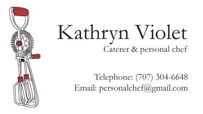 2010 Logo and Business Card for Personal Chef (name and info redacted).