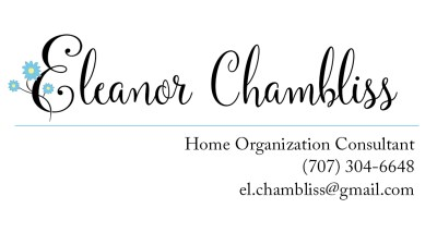 2010 - Business Card and Logo Graphic for Home Organization Consultant (real name and contact info redacted).