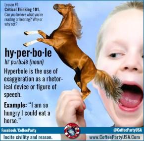 2014.10.06 - Coffee Party - Propaganda Techniques -Hyperbole