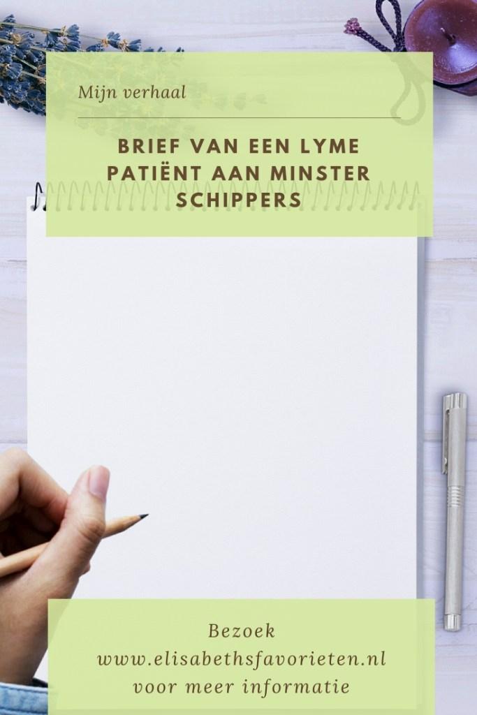 Brief van een Lyme patiënt aan minster Schippers