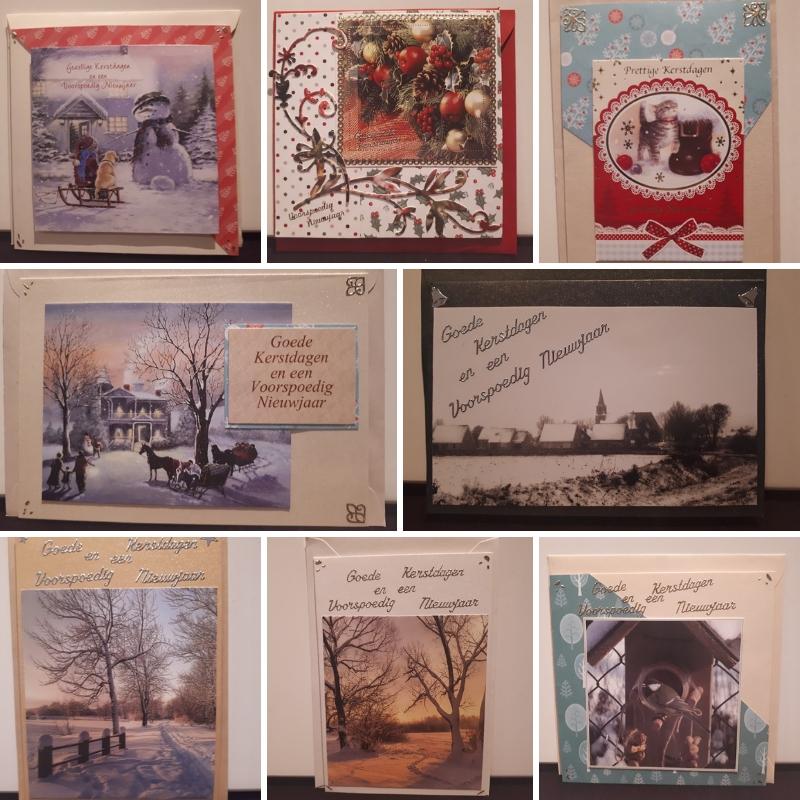 gerecyclede kerstkaarten verstuurd facebook - Gekregen en gemaakte kaarten in december