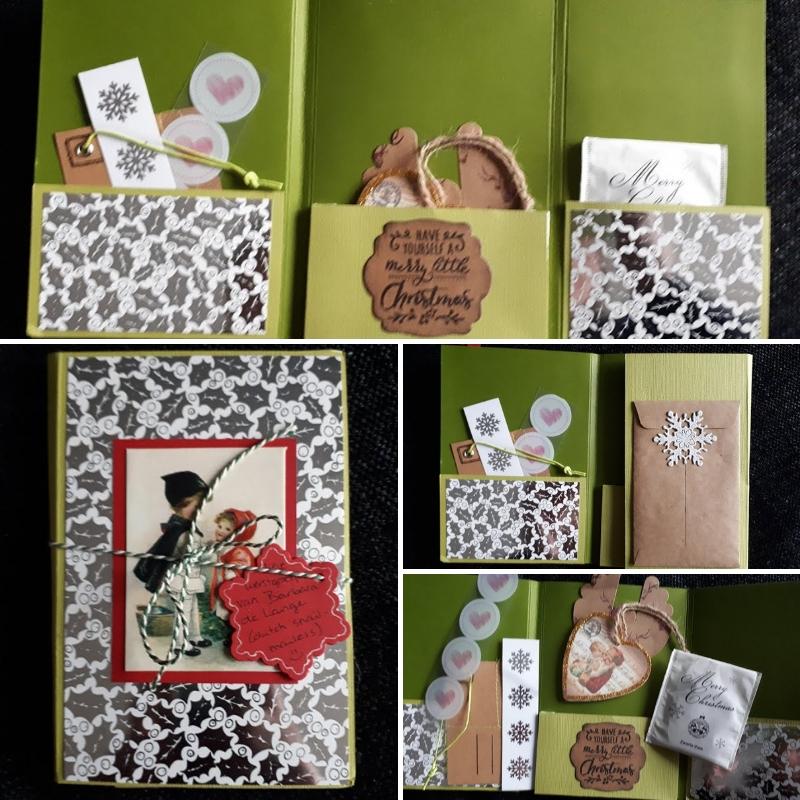 snailmail kerst gekregen - groen - Gekregen en gemaakte kaarten in december