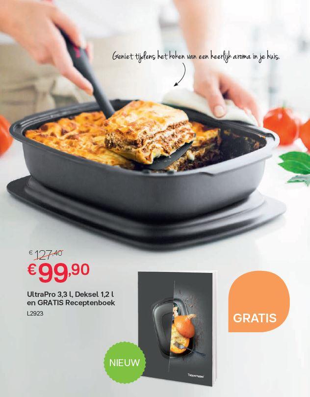 Ultra Pro 3,3 l + deksel 1,2 l met gratis receptenboek