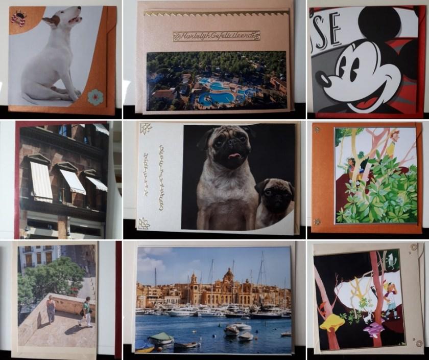 kaarten gemaakt van afbeeldingen tijdschriften1