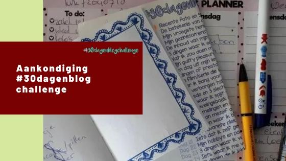 Aankondiging #30dagenblogchallenge