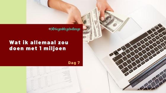 Wat ik allemaal zou doen met 1 miljoen – Blog challenge #7