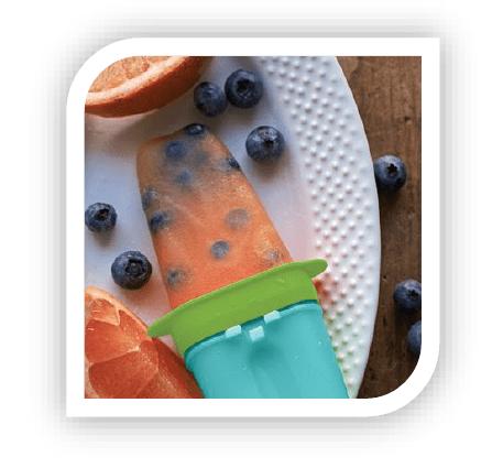 Blueberry - grapefruit ijsjes