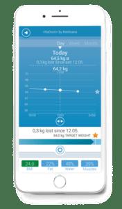 Voorbeeld app VitaDock