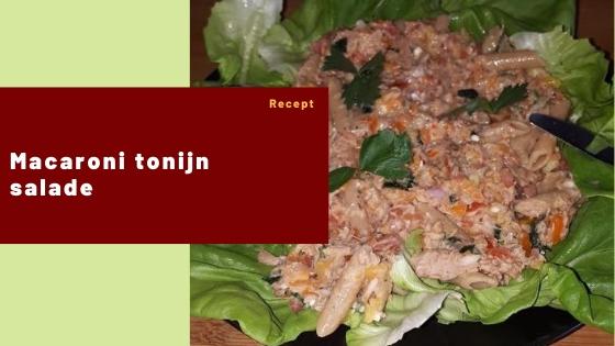 Macaroni tonijn salade – Recept #2