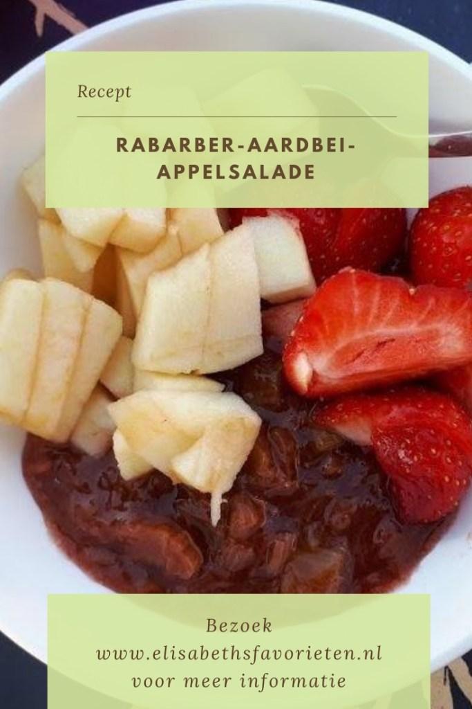 Rabarber-aardbei-appelsalade