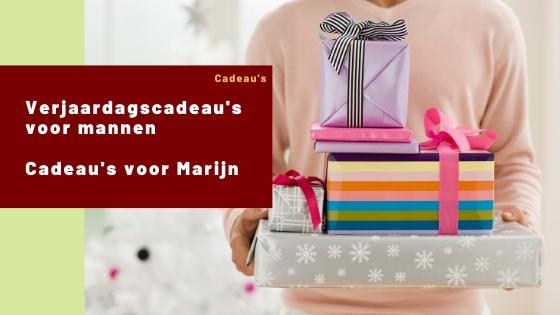 Verjaardagscadeau's voor mannen | Cadeau's voor Marijn