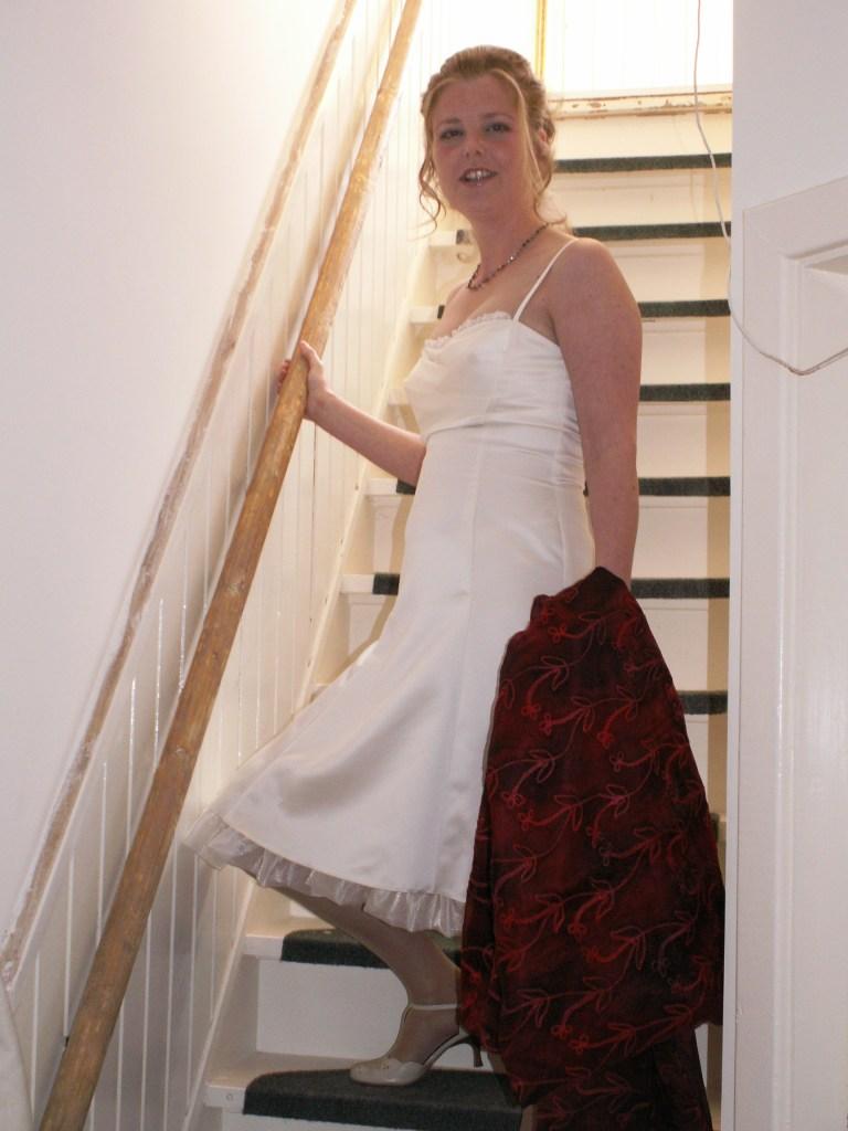 Mirjam op de trap