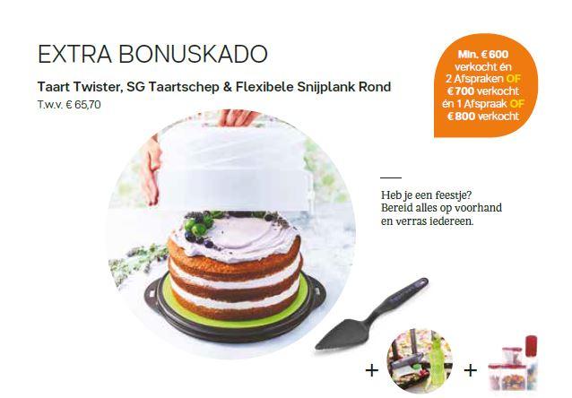 taarttwister taartschep en ronde snijplank - extra bonus cadeau