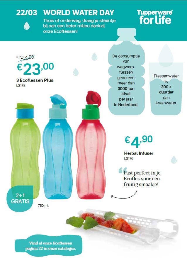 ecoflessen + wereld water dag