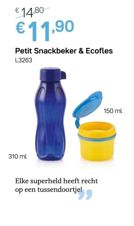 petit snackbeker en ecofles 310 ml blauw