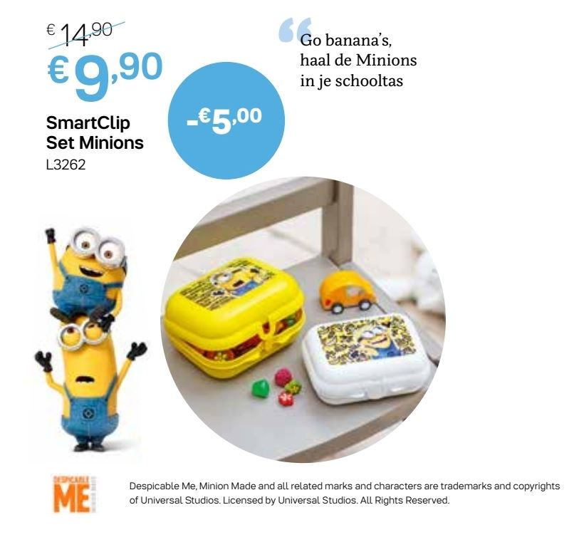 smartclip set minions