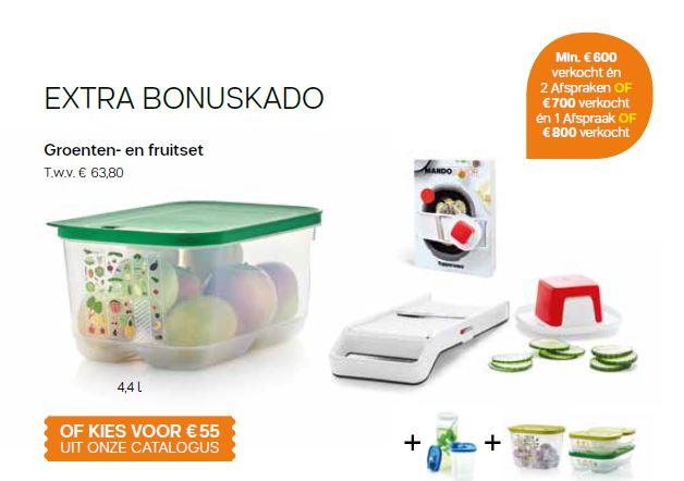 groenten en fruit set - extra bonus cadeau