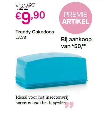 premie artikel - trendy cakedoos