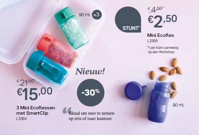 mini ecoflessen + smartclip