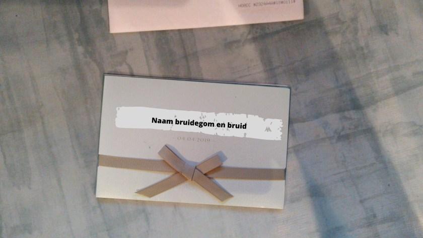 uitnodiging voor de bruiloft