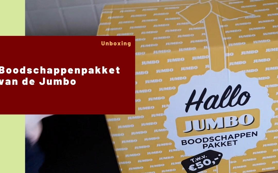 Unboxing boodschappenpakket van de Jumbo