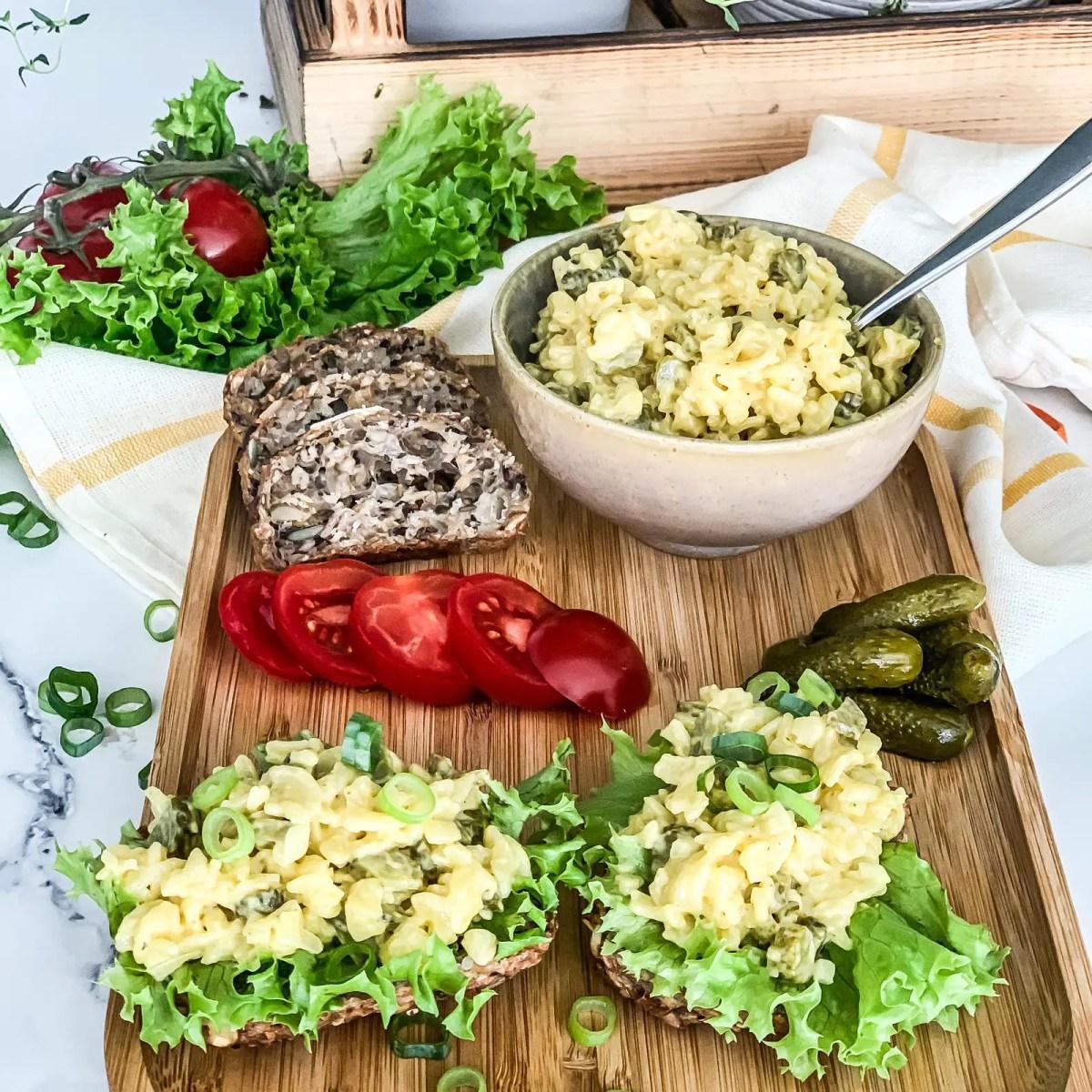 Veganer Eiersalat zum Abendessen