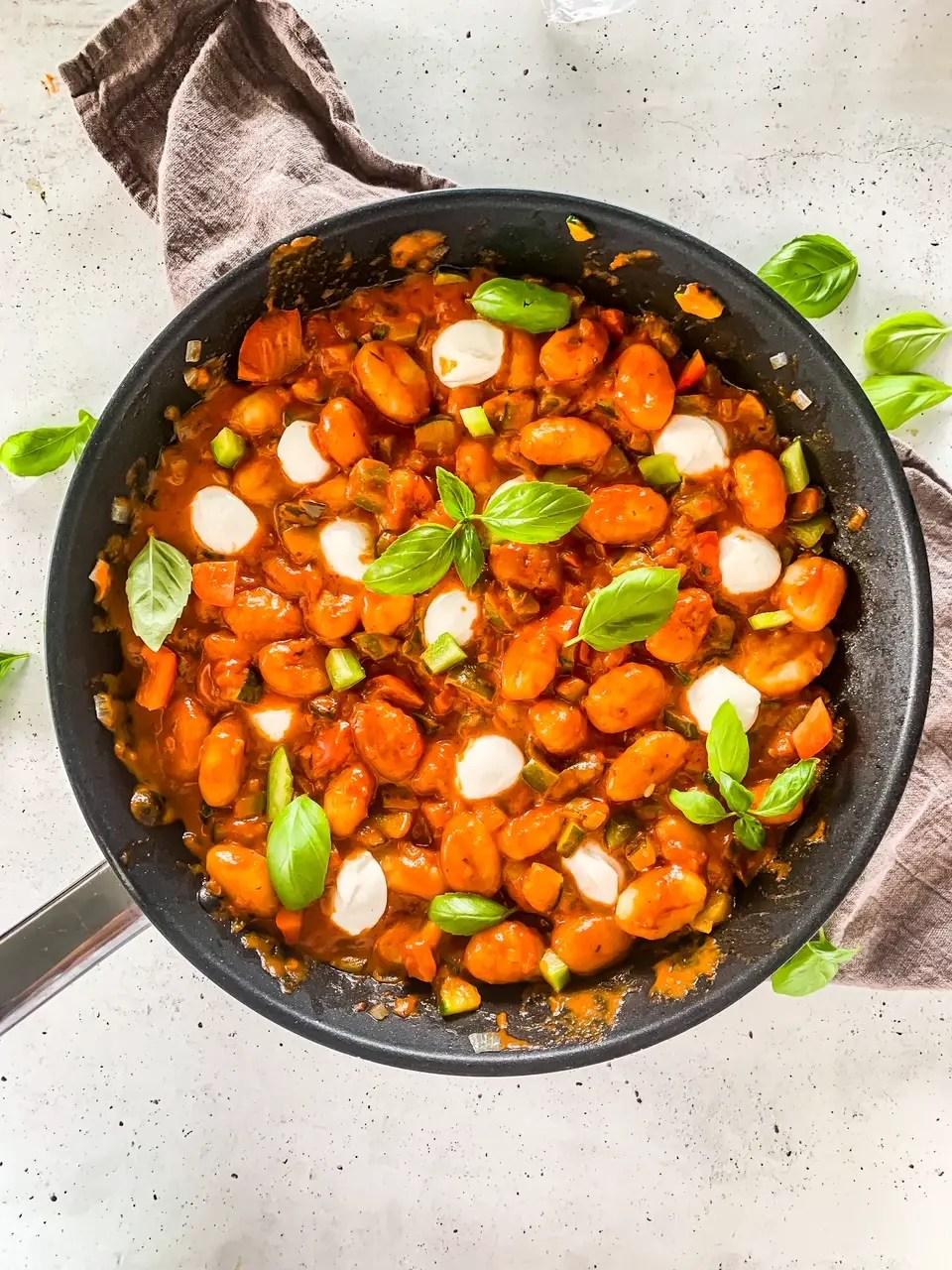 Gnocchi Pfanne mit Ratatouille Gemüse