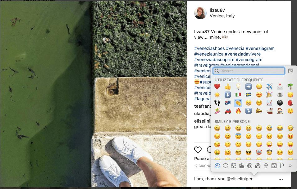 Usare Instagram dal pc commenti con emoji