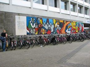Bikes on the University of Tilburg campus campus (Tilburg, The Netherlands).